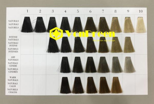Bảng màu thuốc nhuộm tóc Davines