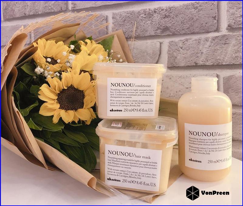 Bộ sản phẩm Davines Nounou giúp phục hồi hư tổn