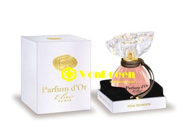 Nước hoa Parfum D'Or Elixir, hương thơm tự nhiên Nữ tính, dịu ngọt