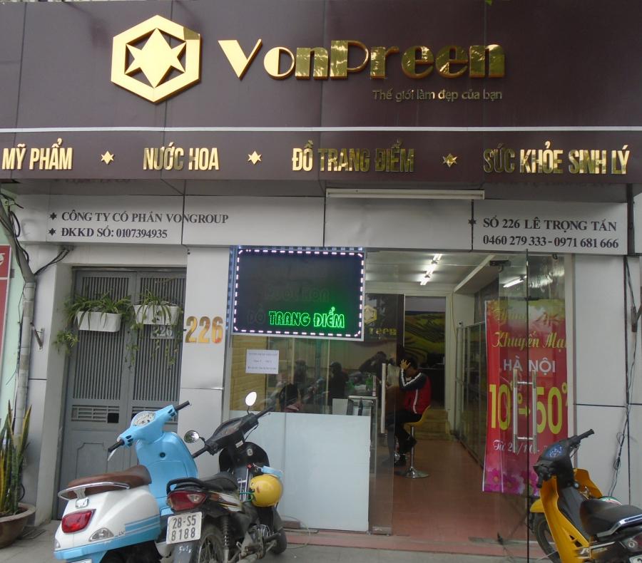 Cửa hàng mỹ phẩm VonPreen