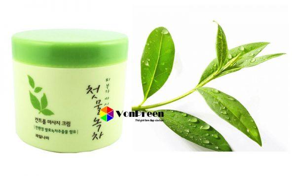 Kem tẩy trang Green Tea Fresh Cleansing Cream, trà xanh chống lão hoá