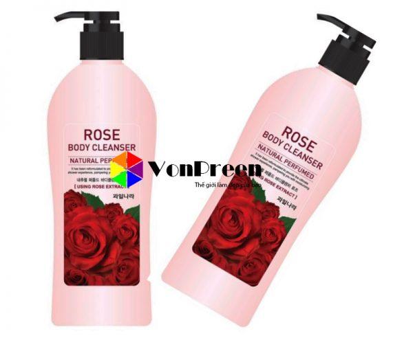 Sữa tắm hoa hồng Rose Body Cleanser, dưỡng ẩm trắng mịn da