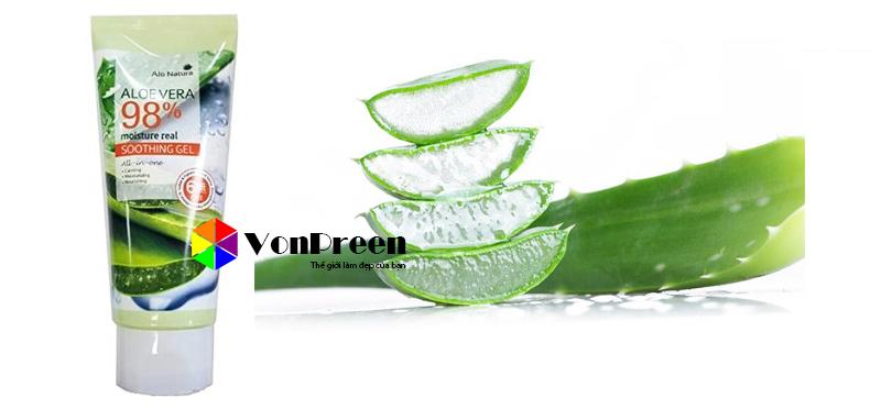 Gel dưỡng thể lô hội Aloevera Moisture Real Soothing 150g, hàng cao cấp chính hãng Hàn Quốc