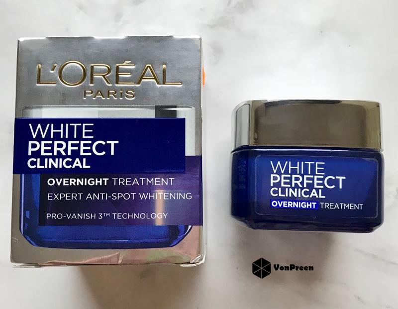 Kem dưỡng da Loreal White Perfect Clinical Overnight Treatment ban đêm