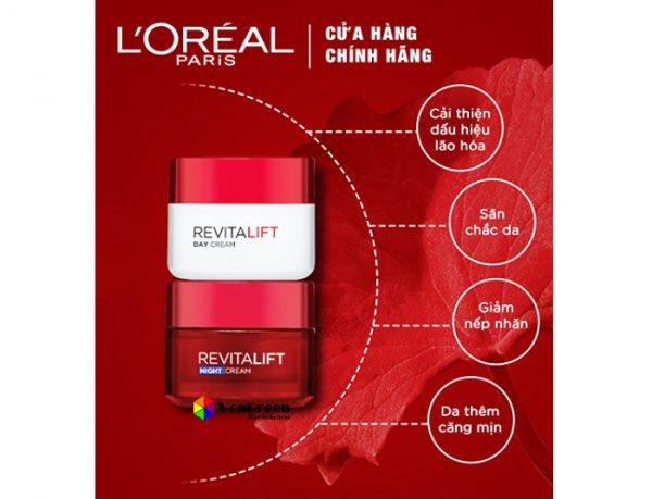 Kem dưỡng da mặt L'oreal Revitalift, da trở nên đều màu và sáng khỏe, rạng rỡ hơn