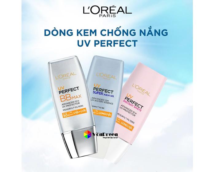 Kem chống nắng L'Oreal UV Instant White, dưỡng trắng, làm sáng da