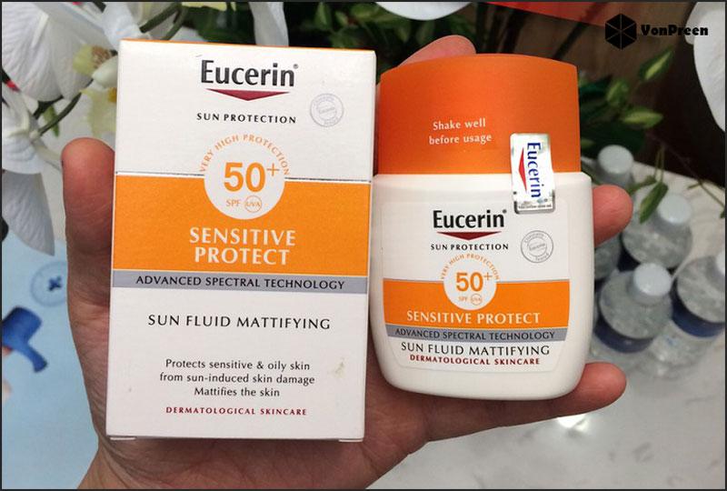 Kem chống nắng Eucerin Sun Fluid Mattifying SPF50 50ml giá bao nhiêu