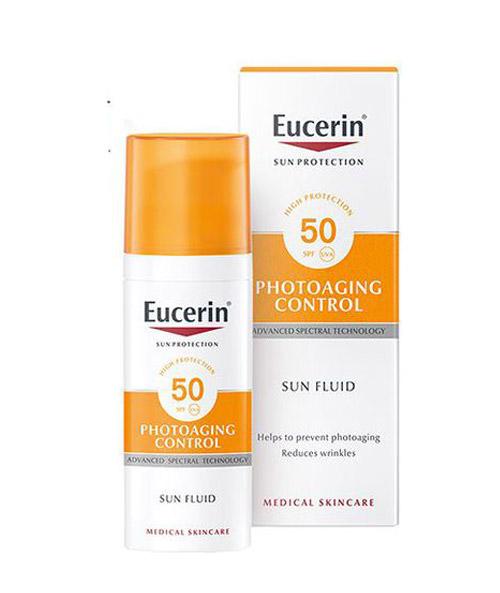 Kem chống nắng Eucerin Sun Fluid Photoaging Control SPF50