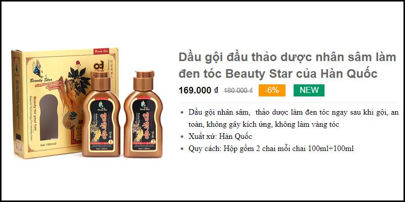 Dầu gội đầu làm đen tóc Beauty Star Thành phố Châu Đốc
