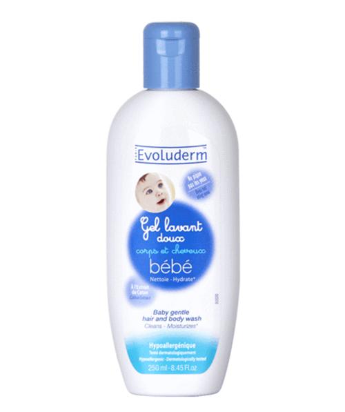 Gel tắm gội Evoluderm Gel Lavant Doux Bebe