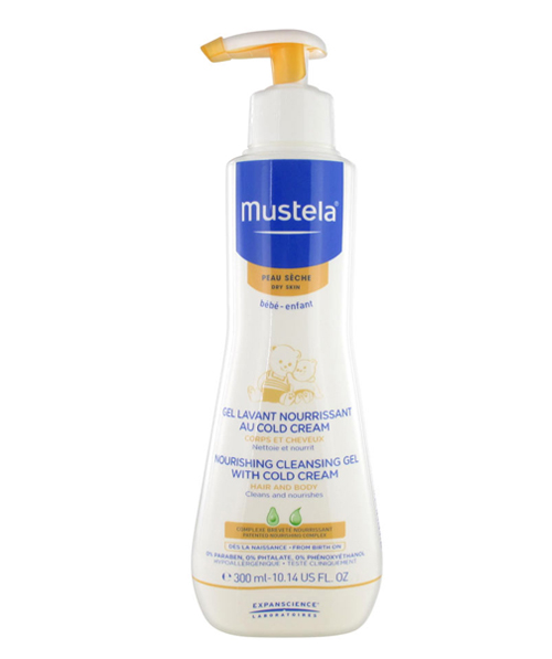 Gel tắm gội Mustala Nourishing Cleansing Gel with Cold Cream - 300ml