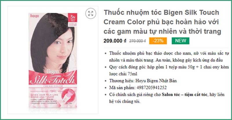 Thuốc nhuộm tóc Bigen Silk Touch Cream Color Thành phố Châu Đốc