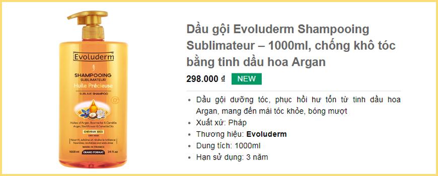 Dầu gội Evoluderm Shampooing Sublimateur – 1000ml