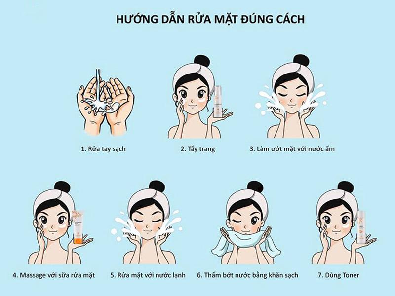 Cách rửa mặt cho da mụn