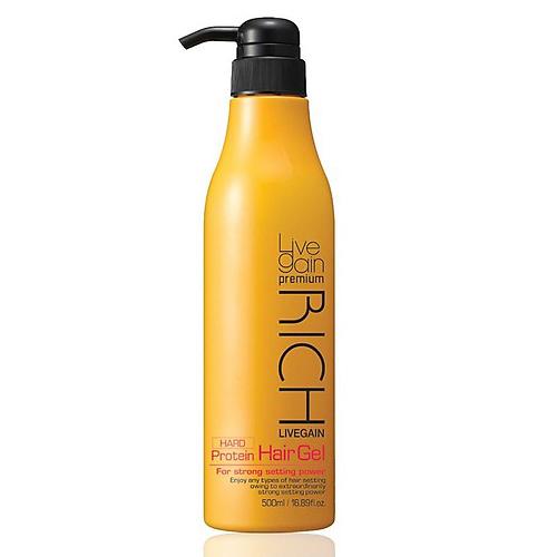 Gel vuốt tóc Livegain Premium Rich Protein Hair Gel - 500ml