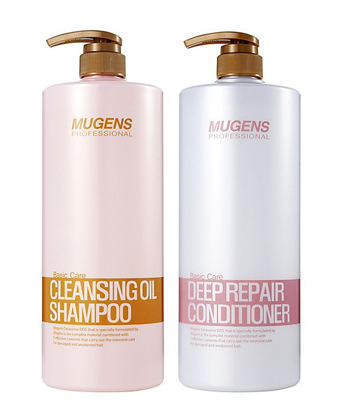 Combo gội xả Welcos Mugens Cleansing Oil Shampoo + Deep Repair Conditioner 1500g