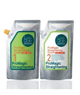Kem duỗi Livegain Premium ProMagic Straightening Cream 450ml + 450ml