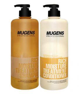 Combo gội xả Welcos Mugens Professional Rich Moisture Treatment 1000ml