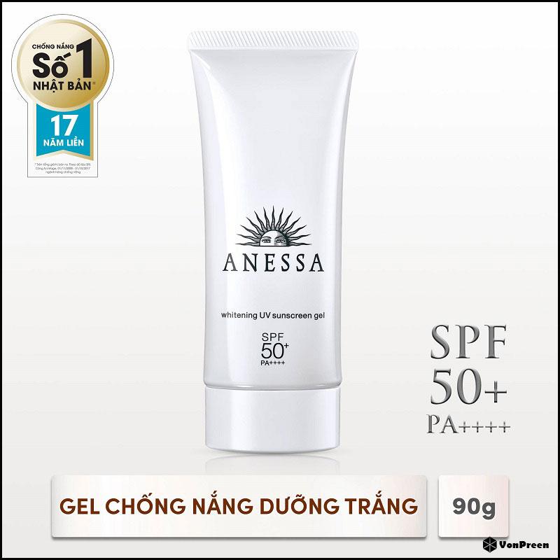 Gel chống nắng Anessa Whitening UV Sunscreen Gel SPF50+ - 90g