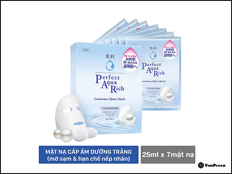 Mặt nạ giấy  Senka Perfect Aqua Rich Luminous Moist Mask – 1 hộp