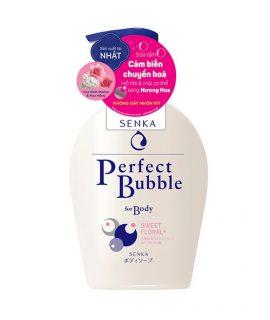 Sữa tắm dưỡng ẩm Senka Perfect Bubble For Body Sweet Floral – 500ml
