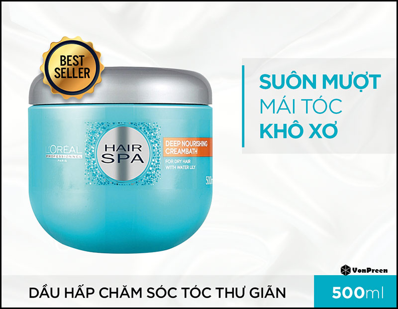 Dầu hấp tóc Loreal Hair Spa Deep Nourishing Creambath - 1000ml