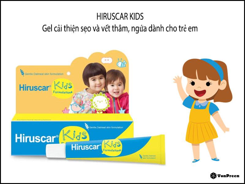 Gel trị sẹo trẻ em Hiruscar Kids – 10g