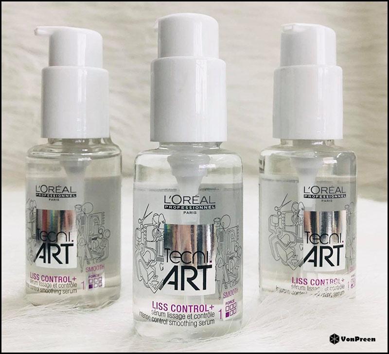 Tinh dầu dưỡng tóc Loreal Tecni Art Liss Control – 50ml