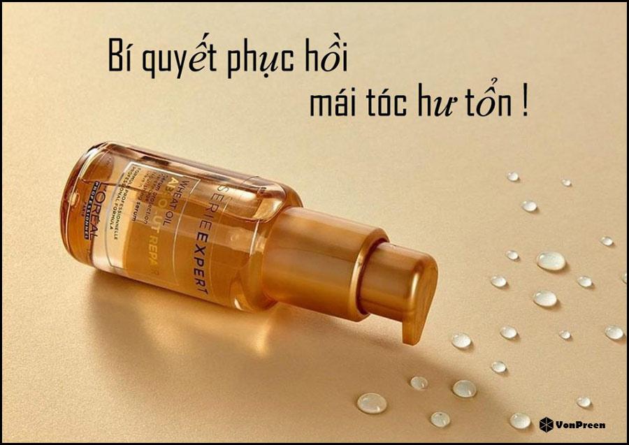 Tinh dầu phục hồi tóc hư tổn Loreal Absolut Repair Wheat Oil - 50ml