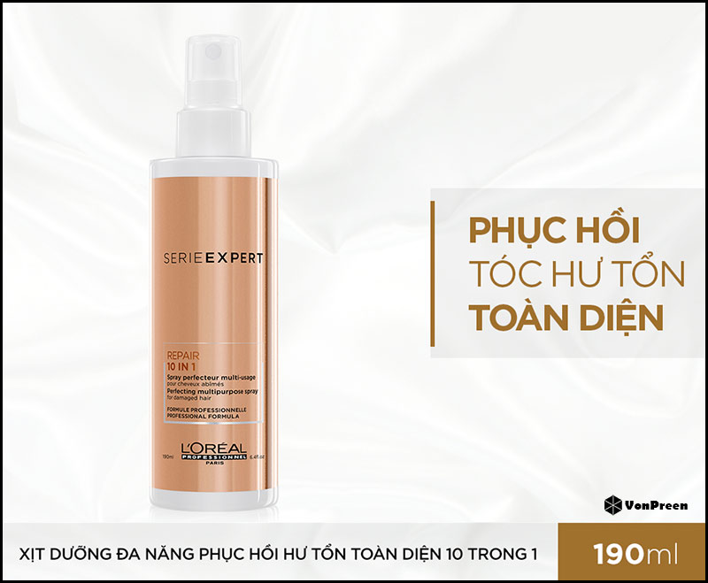 Xịt dưỡng tóc Loreal Serie Expert Repair 10 in 1 Spray – 190ml