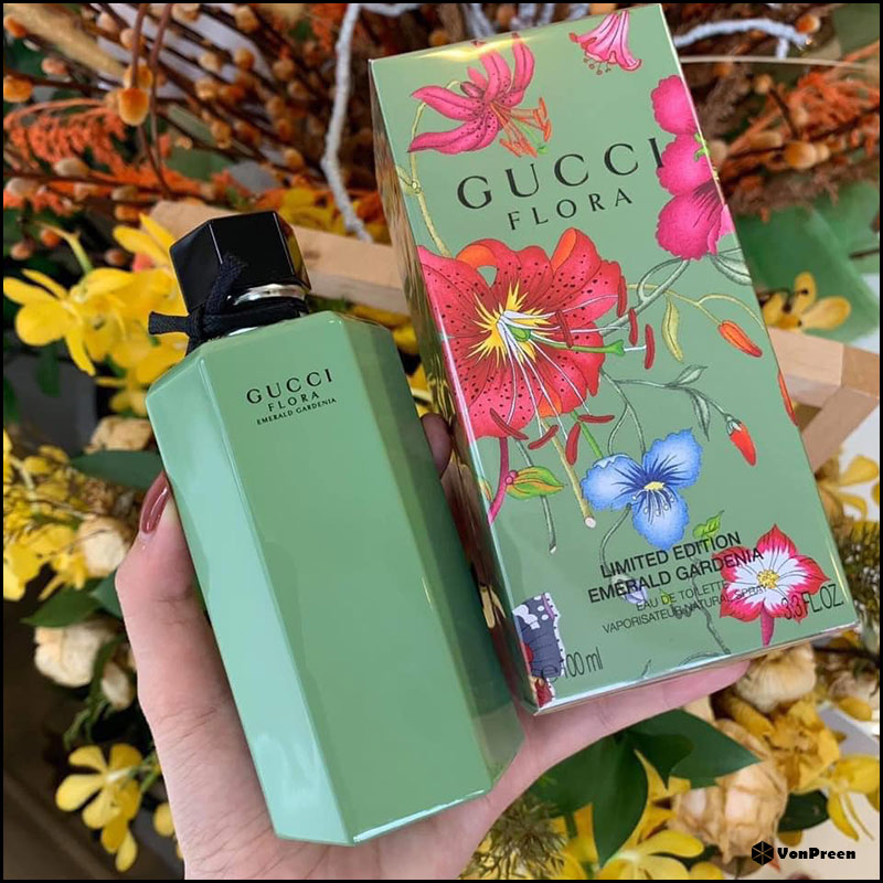 Nước hoa nữ Gucci Flora Limited Edition Emerald Gardenia EDT – 50ml