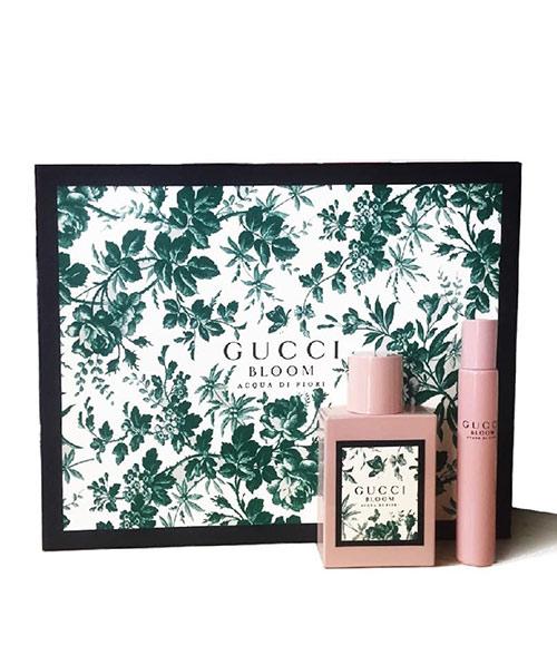 Set nước hoa nữ Gucci Bloom Acqua Di Fiori EDT 50ml + 7,4ml