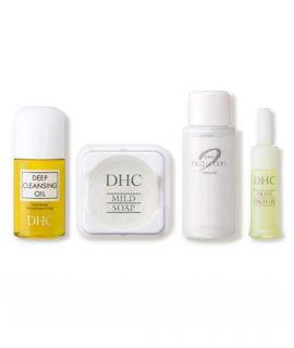 Bộ chăm sóc da DHC Olive Sube Sube Travel Kit - 4 pcs