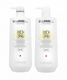 Cặp dầu gội xả phục hồi Goldwell Dualsenses Rich Repair - 1000ml
