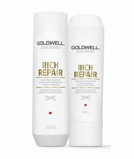 Cặp dầu gội xả phục hồi Goldwell Dualsenses Rich Repair - 250ml