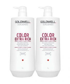 Dầu gội xả siêu dưỡng màu nhuộm Goldwell Dualsenses Color Extra Rich Brilliance - 1000ml